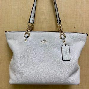 COACH Handbag White/Cream